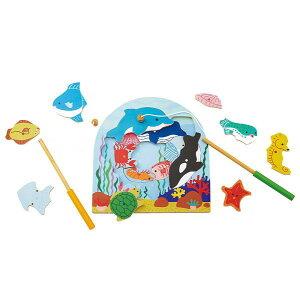 【クーポン配布中】 木のパズル 2層パズル フィッシング エドインター 木のおもちゃ 木製 玩具 パズル 出産祝い 出産お祝い 内祝い 誕生日プレゼント 誕生日祝い 知育玩具 知育 楽天