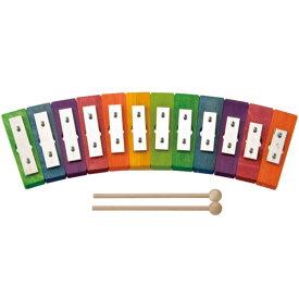 【クーポン配布中】レインボーグロッケン ダイヤ12音 デコア ガイドブック付き 知育玩具 出産祝い 楽器玩具 玩具 木のおもちゃ 【送料無料】 楽天