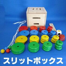 【ディズニーDVDプレゼント】【すぐ使えるクーポン配布中】スリットボックス ひもとおしひも通し 紐通し 知育玩具 型はめ 型はめパズル パズルボックス 木のおもちゃ 誕生日 出産祝い プレゼント 楽天