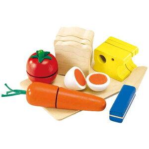 【クーポン配布中】 カッティング・モーニングセット 木のおもちゃ ままごと ごっこ セレクタ selecta 知育 玩具 楽天