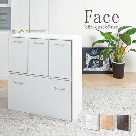 キッチンシリーズface ダストボックス 5分別 ゴミ箱 ホワイト 【代引不可】