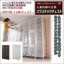 大量収納 プラスチック チェスト 2列×7段 【送料無料】(収納ケース 衣装ケース 衣類収納 プラスチック 引き出し) 楽天