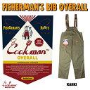 COOKMAN クックマン フィッシャーマンオーバーオール Fisherman's Bib Overall 【 Khaki 】 (クックマン)(シェフパン…