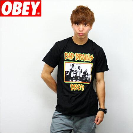 OBEY x BAD BRAINS Tシャツ PHOTO 黒 (バッドブレイン)
