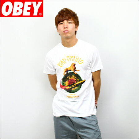 OBEY x BAD BRAINS Tシャツ ROCKET 白 (バッドブレイン)