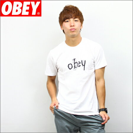 OBEY x BAD BRAINS Tシャツ SKELETON 白 (バッドブレイン)