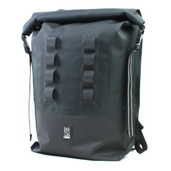 CHROME バックパック URBAN EX ROLLTOP 18 BLACK/BLACK(黒)  (クローム)(バッグ)(試用写真あり)