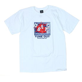 OBEY Tシャツ TUNE OUT 白