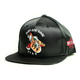 SQUARE CAP  SATIN SNAP BACK BLACK(黒)   (スクエア)(キャップ)