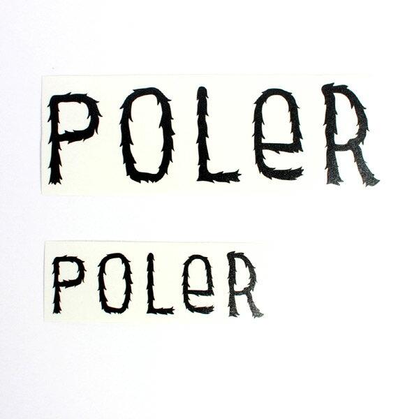 POLeR ステッカー DIE-CUT STICKER FURRY FONT 5inch(大) (ポーラー)