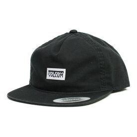 VOLCOM LOW CAP  FRACTURE BLK(黒)(SNAP BACK)   (ヴォルコム)(ボルコム) (キャップ)