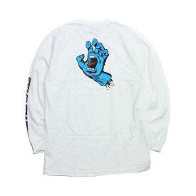 SANTA CRUZ ロンT 白 SCREAMING HAND WHITE  (サンタクルズ)(スクリーミングハンド)