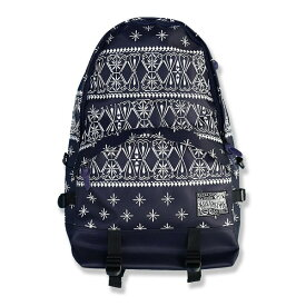 Kustomstyle バックパック  BANDANA BACKPACK NAVY  (カスタムスタイル)  (バッグ)(リュック)
