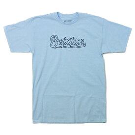 BRIXTON Tシャツ 水色   DORY LIGHT BLUE  (ブリクストン)