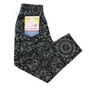 COOKMAN パンツ 黒  CHEF PANTS 「Paisley」 Black  (クックマン)