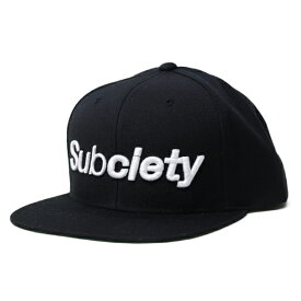 SUBCIETY CAP 黒  THE BASE SNAP BACK   BLACK (キャップ)