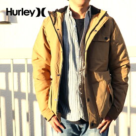 Hurley フード付中綿ジャケット ベージュ SLAMMER JACKET 283 ハーレー CI2657