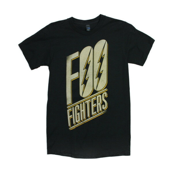 THE FOO FIGHTERS Tシャツ SLANTED LOGO 黒