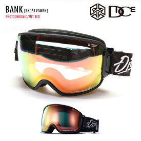 2021 DICE ダイス BANK バンク BK05190MBK レンズ:PHOTOCHROMIC / MIT RED スキー・スノーボード ゴーグル 【JSBCスノータウン】