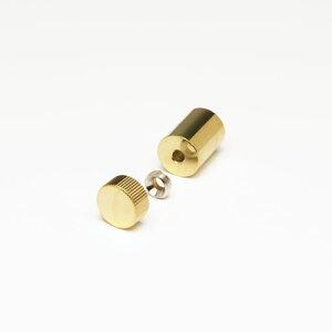 化粧ビスセット(真鍮製) ローレットタイプ EPF-M12R-15 ゴールド