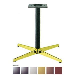 テーブル脚 コルサS2600 ベース430x430 パイプ60.5φ 受座240x240 ゴールド/塗装パイプ AJ付 高さ700mmまで