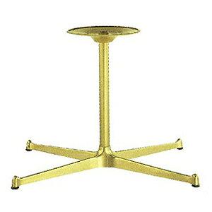 テーブル脚 SB3650 ベース565x335 パイプ38.1φ 受座280φ アルミゴールド/塗装パイプ AJ付 高さ700mmまで