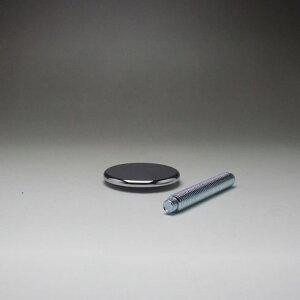 DSPポール脚用 フラットキャップB 60mm クロームメッキ