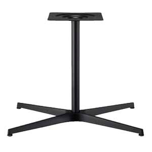 テーブル脚 AB3700 ベース600x370 パイプ42.7φ 受座240x240 黒紛体塗装 AJ付 高さ700mmまで