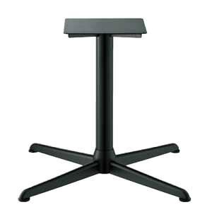 テーブル脚 コルサエルS21000 ベース710x710 パイプ76.3φ 受座350x350補強付 黒紛体塗装 AJ付 高さ700mmまで