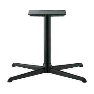 テーブル脚 コルサエルS3900 ベース730x510 パイプ76.3φ 受座250x400補強付 黒紛体塗装 AJ付 高さ700mmまで