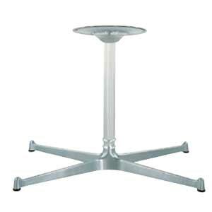 テーブル脚 FB3650 ベース565x335 パイプ45φ 受座280φ アルミシルバー AJ付 高さ700mmまで