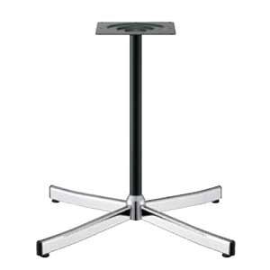 テーブル脚 ローズ2S2700 ベース495x495 パイプ38.1φ 受座240x240 クローム/黒塗装パイプ AJ付 高さ700mmまで