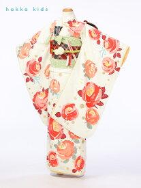 【レンタル】ブランド[hakka kids] 水玉-椿【七五三 7歳女の子】【七五三 7歳 着物】【七五三 女の子 着物】【七五三7歳】【七五三 髪飾り付】【椿】【結婚式】【往復送料無料】【代引き手数料無料】【小物一式つき】【フルセット】【e-7-908】