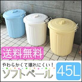 ソフトペール 45L PE-45L 全3色アイリスオーヤマ ゴミ箱 ごみ箱 ペール 柔らかい 庭 ふた付き フタ付き おもちゃ収納 ランドリーバスケット