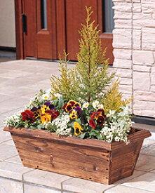 焼杉メッシュプランターボックス YMB-540ガーデニング 園芸 家庭菜園 植木鉢 花鉢 プランター アイリスオーヤマ