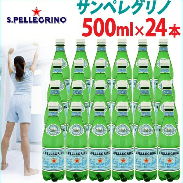 サンペレグリノ 500mL 24本入 炭酸水 天然炭酸水 ペットボトル 【D】【楽ギフ_包装】【O】