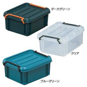 バックルコンテナ BL-1.5レジャー アウトドア 小物 収納 洗濯 衣類 洋服 物置 コンパクト 収納力 整理整頓 トランク ダークグリーン クリア