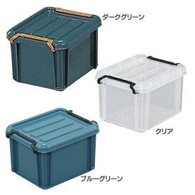 バックルコンテナ BL-2.3レジャー アウトドア 小物 収納 洗濯 衣類 洋服 物置 コンパクト 収納力 整理整頓 トランク ダークグリーン クリア