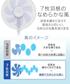 リビング扇風機リビングファン首振り静音リモコン付きタイマー省エネ節電白リモコン式リビング扇DCモーター式ロータイプホワイトLFD-306Lアイリスオーヤマ