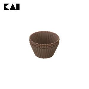【手作りお菓子】【B】KHS シリコーン マフィンカップL(4個入)【お菓子作り】 000DL6354【D】