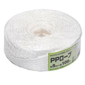 全国家庭用品卸商業協同組合荷造り PPロープ 5mm×100m【TC】