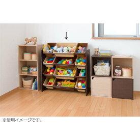 トイハウスラック ブラウン 4段タイプ【おもちゃ 収納 ラック】【D】【O】
