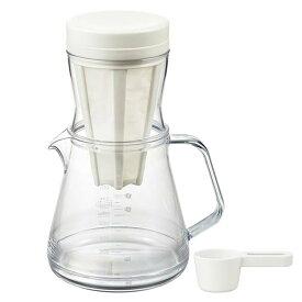 コーヒーサーバー ストロン 2WAY ドリッパーセット ホワイト 39940コーヒーサーバー アイスコーヒー 水出しアイスコーヒー 水出し おしゃれ 紙フィルター不要 フィルター付き コーヒードリッパー コーヒーサーバー 曙産業 【D】