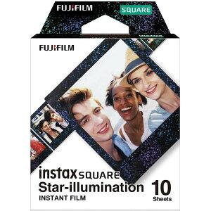スクエアフィルム INS SQ STAR ILLUMI WW1 インスタントフィルム インスタント フィルム チェキ チェキ用 インスタントカメラ ポラロイドカメラ インスタントカメラ用 ポラロイド用 おしゃれ かわ