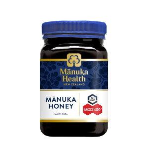 マヌカヘルス マヌカハニー MGO400+/UMF13+ 500g [正規品 ニュージーランド産] 送料無料 はちみつ マヌカ manuka 正規輸入 富永貿易 のど 抗菌作用 ウイルス 蜂蜜 ハチミツ MANUKA HEALTH NEW ZEALAND