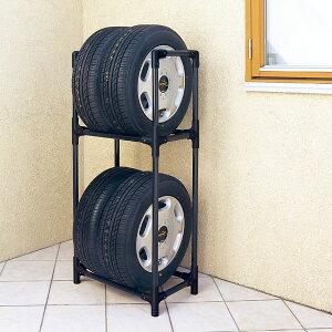 タイヤラック スリム 4本 アイリスオーヤマ KTL-590タイヤ 2段 収納 保管 タイヤスタンド 収納 保管ラック タイヤ収納 保管 タイヤ収納 保管ラック カー用品 車用品 夏タイヤ 冬タイヤ 車庫 屋
