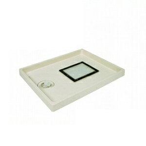 点検口付防水パン ABSエンデバー アイボリーホワイト 点検口:透明 [TSE800CW-1-TOUMEI] テクノテック 代引き・時間指定不可 メーカー直送