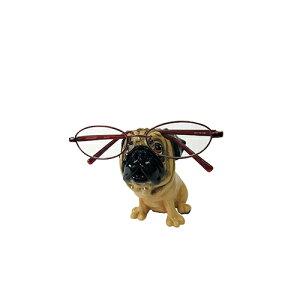 メーカー直送 東洋石創 The GROBAL MARKET(グローバルマーケット) 眼鏡スタンド(パグ) [32006] 海外雑貨 輸入雑貨 W80×H110×D120 ○