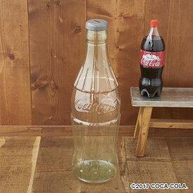 コカコーラ ボトルスタイルバンク 貯金箱 500円玉 高60 幅18 奥18cm PET素材 透明クリアー 貯める楽しみ満載 インパクト大きい貯金箱 Coca-Cola Bottle Style Bank PJ-CB01)