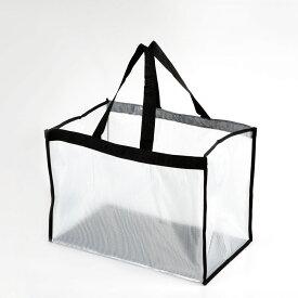 社内バッグ 透明ビニールバッグ 塩ビバック 透明ビニールバックシースルーバッグ スケルトンバッグ プールバッグ 無地 オフィス用 水遊び用 ジム用 bag in bag 縫製仕様 SB-4532 タフ